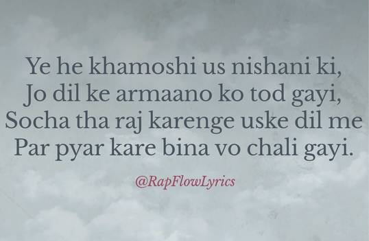 Hindi Rap Quotes - Rap Flow Lyrics | Break Up | Love