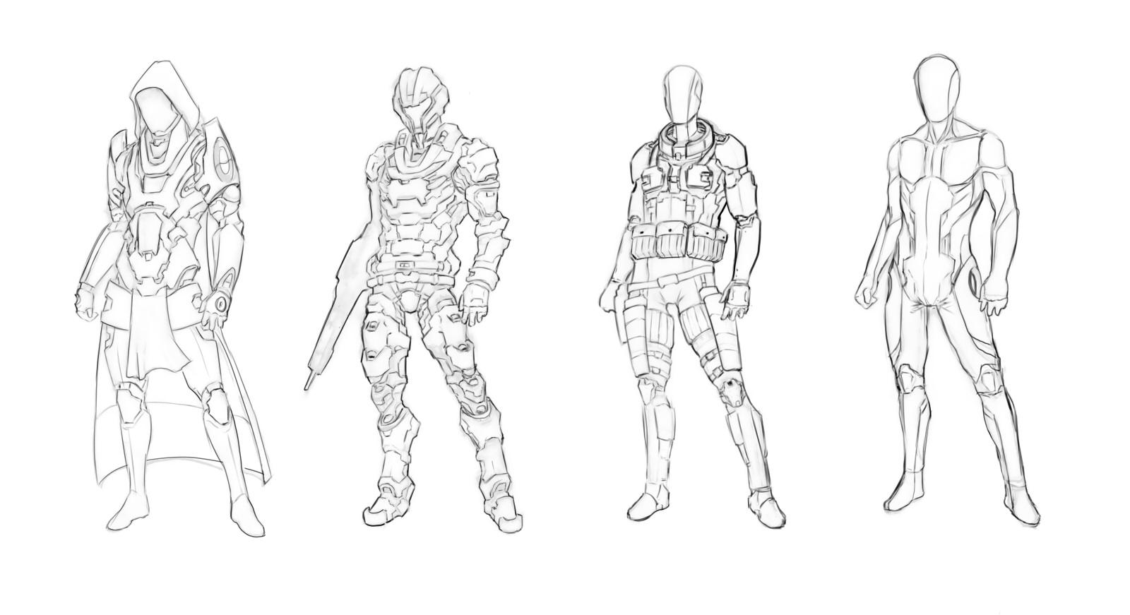 Chris De Paoli's Art Blog: Sci-fi soldiers