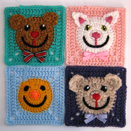 Funny Face Square - Free Pattern