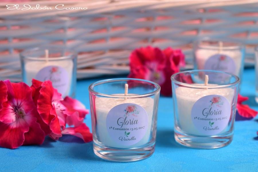 Detalles para comuniones velas personalizadas