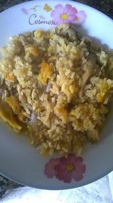 receta-vegana-arroz-integral-setas
