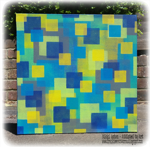 Canvas with Dina Wakely Paints by Nikki Acton