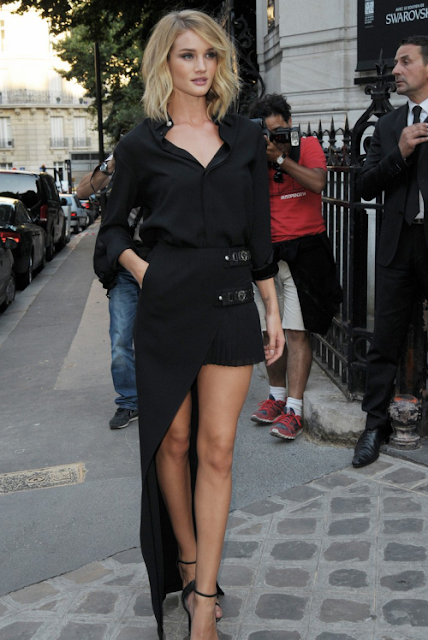Look do dia de Rosie Huntington-Whiteley fashion street, street style moda de rua