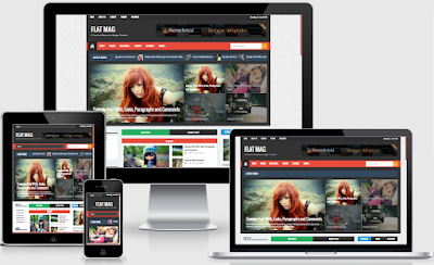 Flat Mag Responsive Magazine Blogger Template Free Download