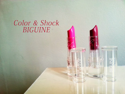 Les Color & Shock de Biguine makeup !!
