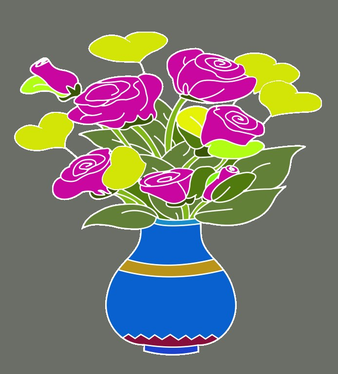 Catatanku Anak Desa Mewarnai Gambar Vas