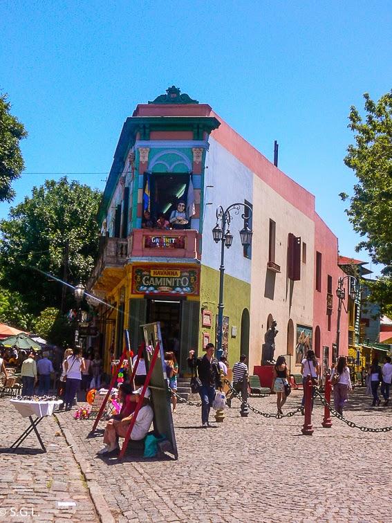 Comienzo de la calla caminito en Buenos Aires