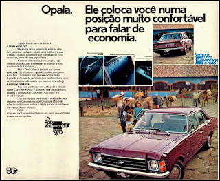propaganda Chevrolet Opala Sedan - 1975, Opala 75, GM anos 70, Chevrolet década de 70, carros Chevrolet anos 70, Oswaldo Hernandez,