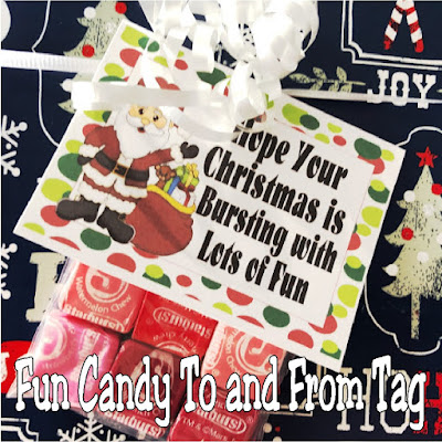 Add this candy gift tag to your Christmas presents this year and you will be the one with the best gifts. These printable to and from tags will add a sweet touch to all the Christmas presents under your tree.