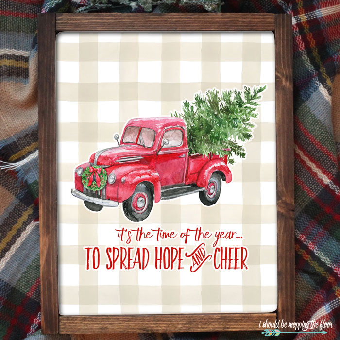 Christmas Tree Farm Truck