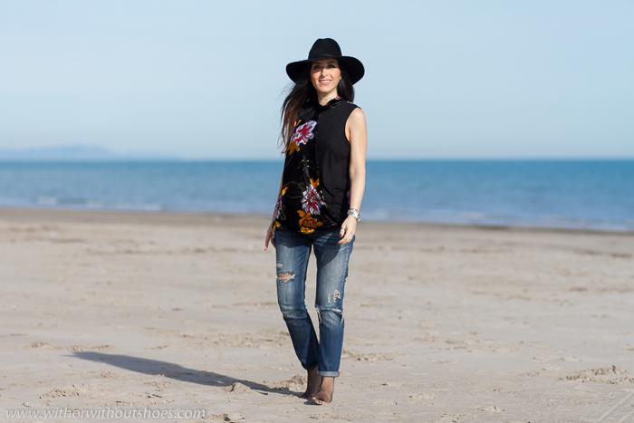BLogger influencer de Valencia sesion de fotos en la playa