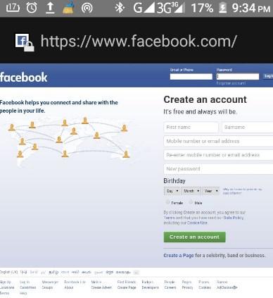 Facebook Full Website Not Mobile