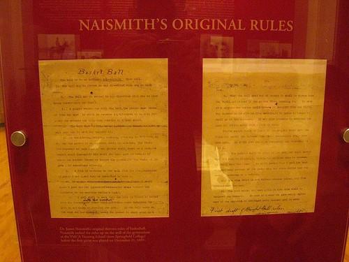 Οι 13 --εντολές του μπάσκετ-- από τον James Naismith