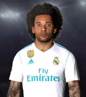 PES 2017 Face & Tattoo Marcelo by Facemaker Ahmed El Shenawy