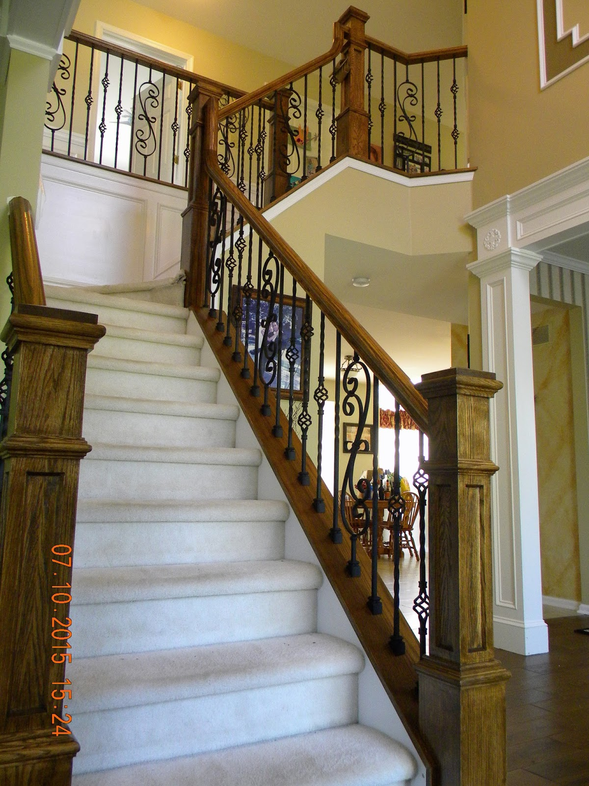 Wood Stairs and Rails and Iron Balusters: Iron Balusters ...