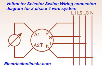 Voltmeter Selector Switch    Wiring     Installation For 3    Phase       4       Wire    System  Electrical Online 4u