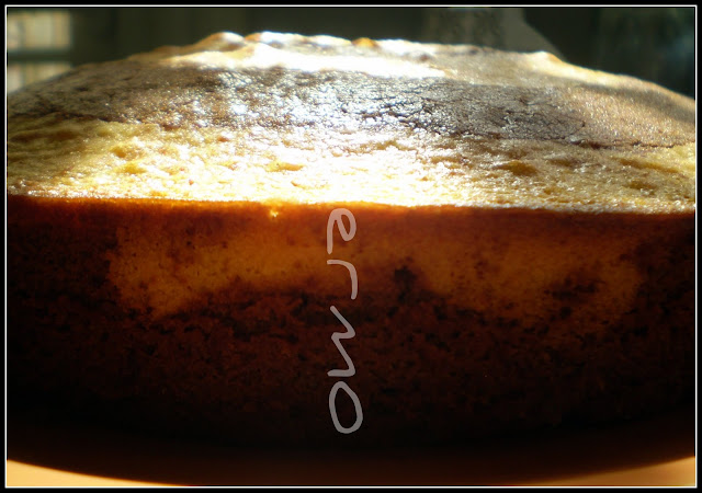 Bizcocho cebra de mascarpone y chocolate receta casera