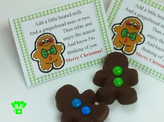 Free Gingerbread Hot Chocolate Bag Topper Printable