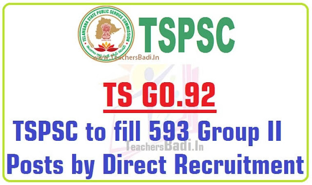 TSPSC,Group II Posts,Direct Recruitment