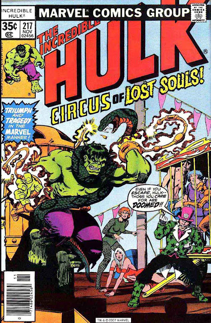 Incredible Hulk v2 #217 marvel comic book cover art by Jim Starlin