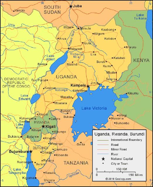 Gambar Peta Negara Burundi HD