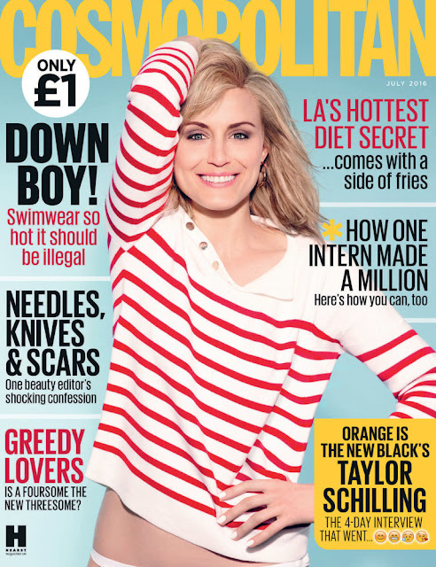 Actress, @ Taylor Schilling for Cosmopolitan UK July 2016