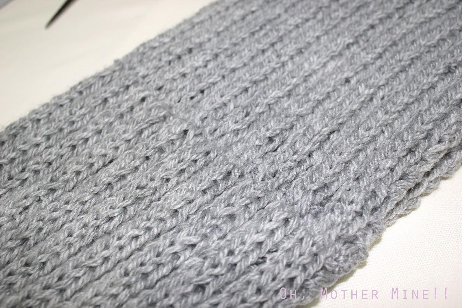 Aprender a hacer punto  DIY Bufanda cerrada. Como hacer bufanda con dos  agujas 119c6c244901