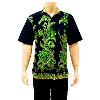 Katun Motif Batik Bunga Bunga Warna Kombinasi Ungu Dan Hijau Berat