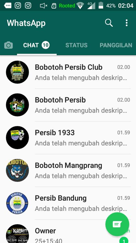 Kumpulan Grup Whatsapp Bobotoh Persib Catatan Persib