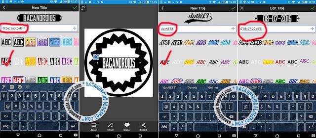 Membuat Logo Nama Font keren di PicSay Pro Android