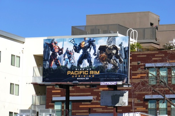 Pacific Rim Uprising film billboard