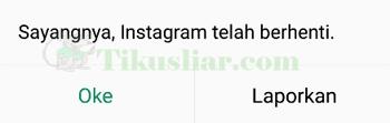 Cara mengatasi sayangnya Instagram telah berhenti