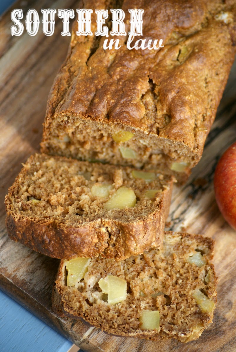 Gluten Free Apple Bread Recipe | low fat, gluten free, healthy, clean eating friendly, refined sugar free