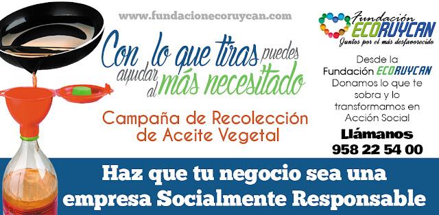 Campaña de recogida de Aceite Vegetal Solidario