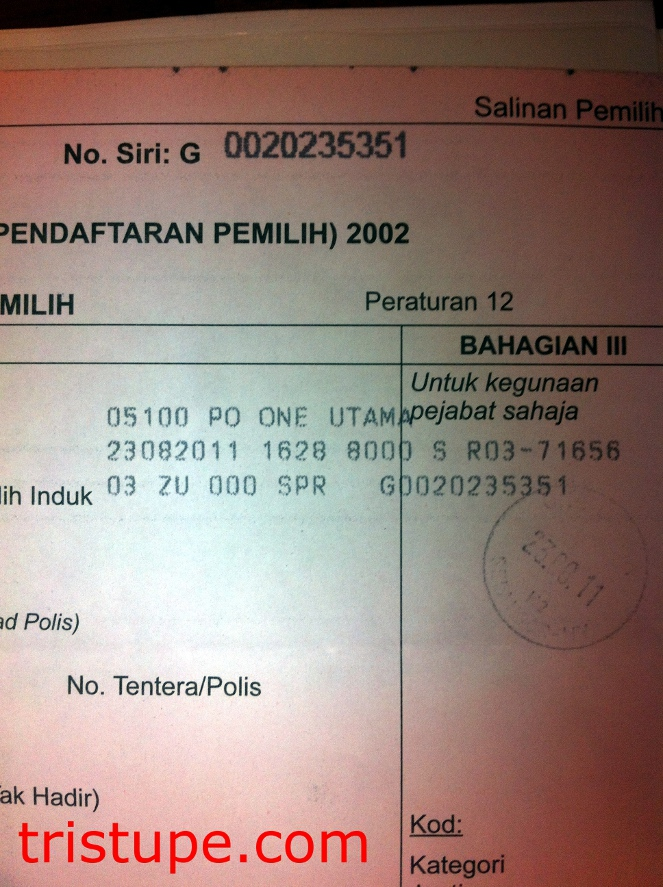Luckily I Saved The Form Which Lied For Change At Post Office In One Utama As Proof That Did Requested