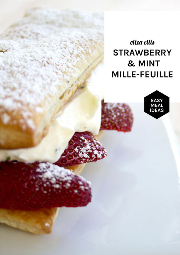 Mint & Strawberry Mille-Feuille from the Flavor Ideas Series by Eliza Ellis