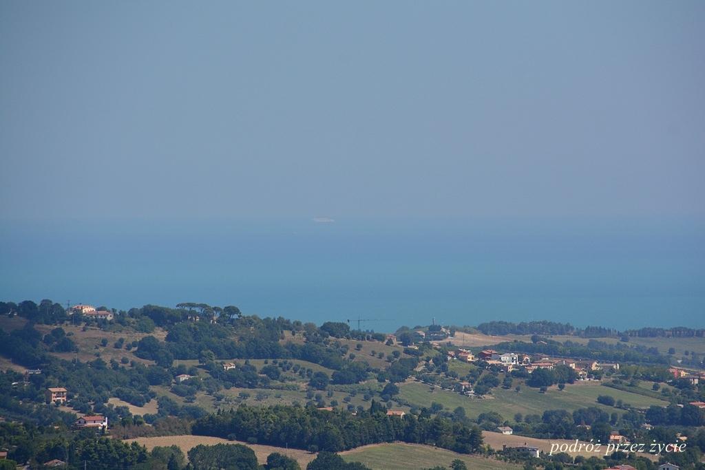 widok z Recanati, Italy, Włochy