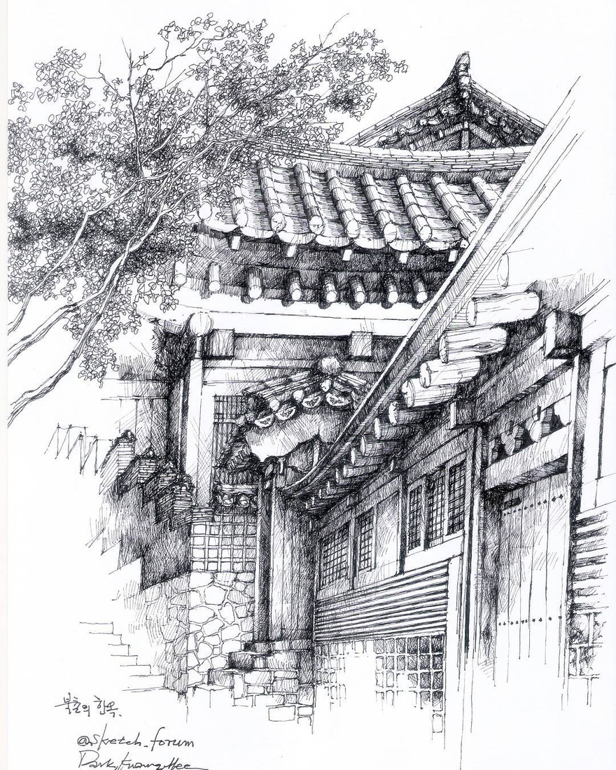 07-Park-Kwang-Hee-Architectural-Sketches-Interior-Exterior-Old-and-New-www-designstack-co