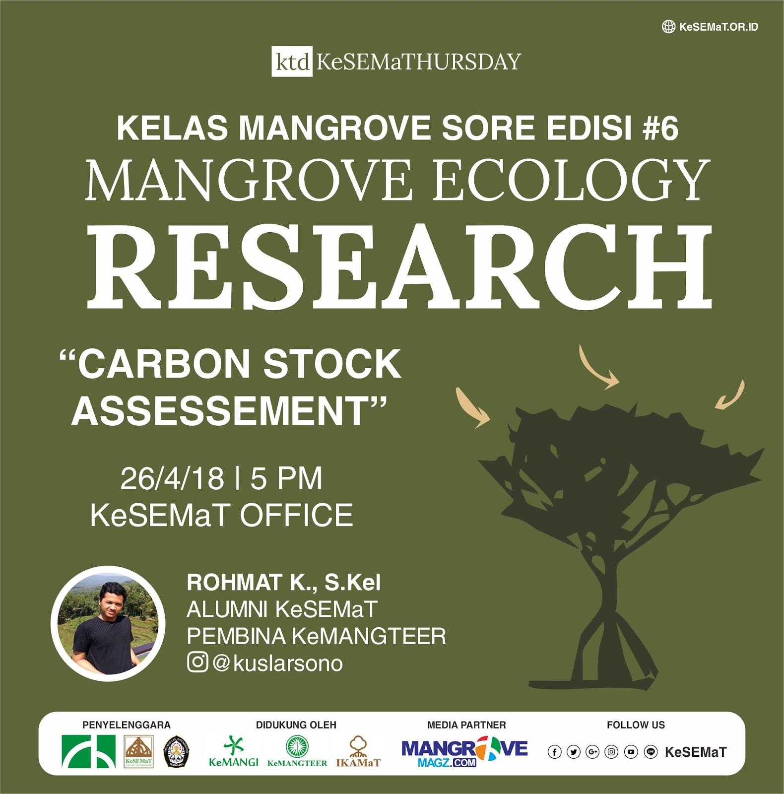 Kajian Mangrove dan Karbon di KTD Minggu Ini