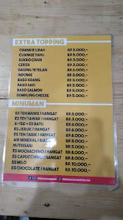 menu Baso Aci Mantan