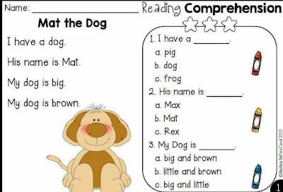 تمارين فهم نص بسيطة في مادة اللغة الإنجليزية السنة الاولى متوسط الجيل الثاني
