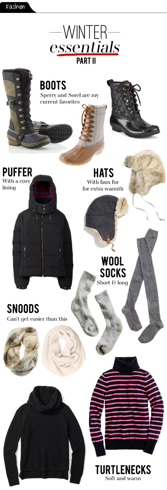 Winter Clothing Essential Parts