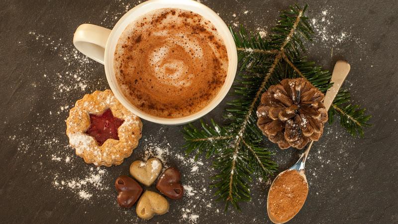 2 Christmas Cookies and Hot Chocolate