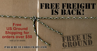 Free US Ground Freight at ParachuteCordCraft.com!