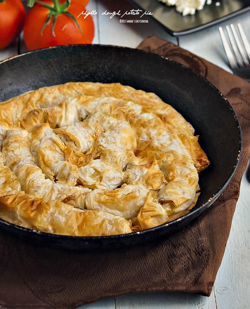 Easy recipe for Phyllo(Filo) dough stuffed with Potato - Pie