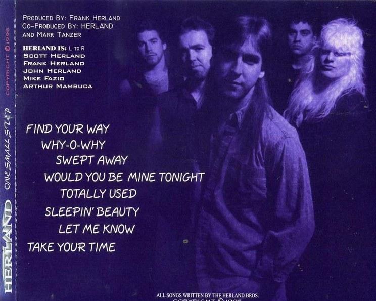 HERLAND - One Small Step (1995) + bonus - back
