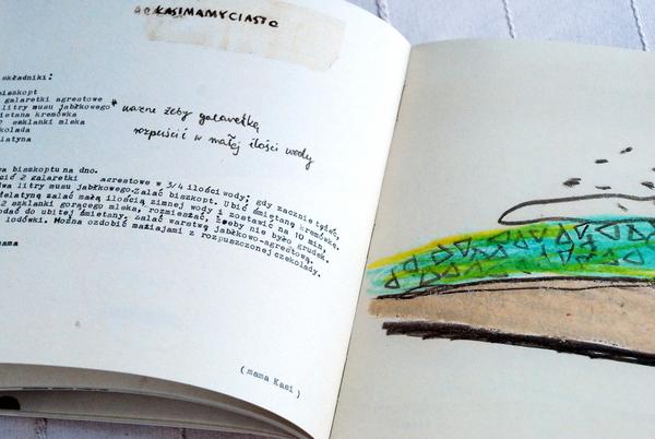 Wnętrze książki, przepis na sernik na kasimamyciasto