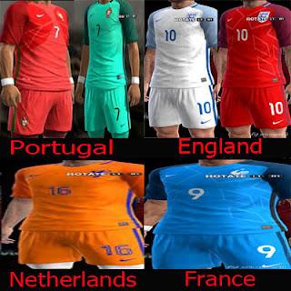 Kitset Pack Euro 2016 Pes 2013