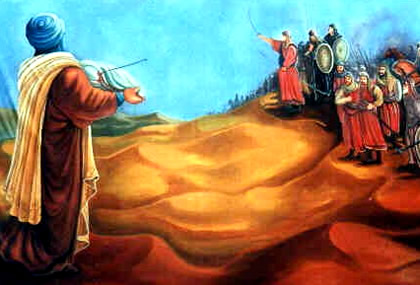 Husayn meet Yazid army
