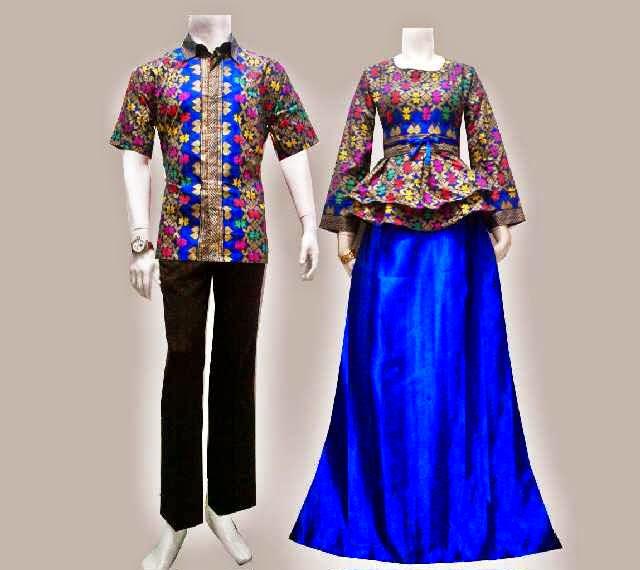 Baju Batik Gamis Modern Songket Prodo - Batik Bagoes Solo